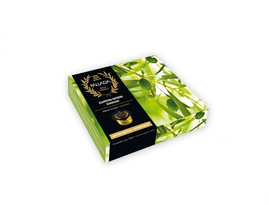 Gift box with olive oil in individual packages