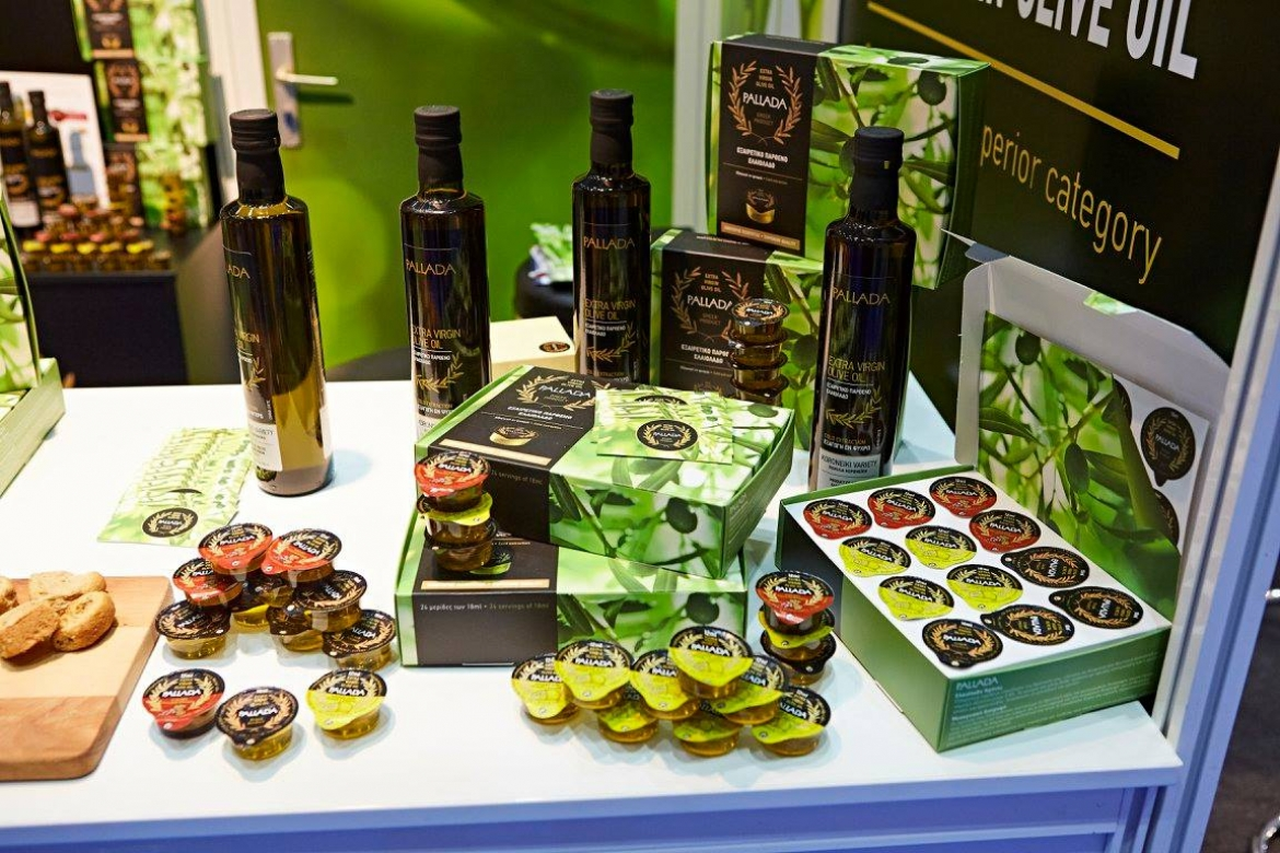 Our participation with Pallada extra virgin olive oil in portions at World Travel Catering & Onboard Services Expo